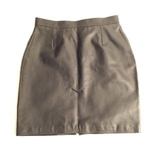 Dresses & Skirts - Genuine Leather Black Pencil Skirt 32 NWT